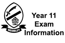 Year 11 Exam information